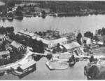 lygfoto över bruket, 1930-talet