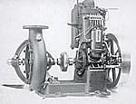 Motor med centrifugalpump, 1920-talet.