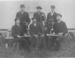 Bruksmusikanterna i Forsvik 1886.